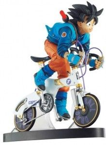 Figura Dragon Ball Son Goku montado en bicicleta (Desktop Real McCoy)